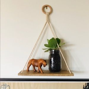 Hanging wood wall shelf Urban Outfitters